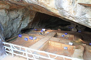 Cave and archaeological site in China
