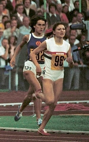 Gunhild Hoffmeister - Hoffmeister (left) at the 1972 Olympics