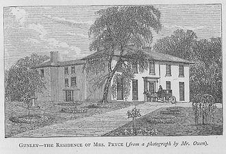 "John Hiram Haycock - Gunley Hall, Montgomeryshire From  Nicholls ""Annals and Antiquities of Wales"",1872. Vol  2, 799"