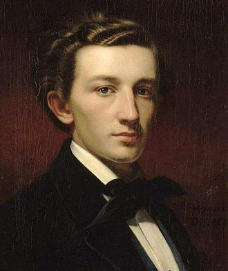 Werner Holmberg - Portrait of Holmberg by Per Södermark in 1853