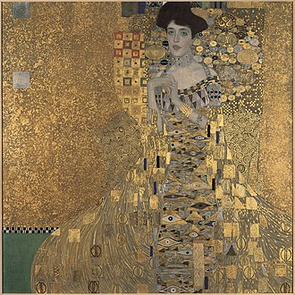 Art Nouveau - Portrait of Adele Bloch-Bauer I by Gustav Klimt (1907)