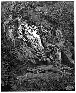 Gustave Doré - Dante Alighieri - Inferno - Plate 18 (Canto V - Dante has a touch of the vapours).jpg