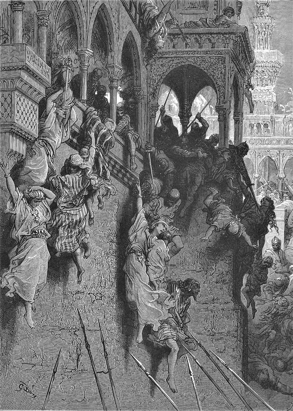 Gustave dore crusades the massacre of antioch