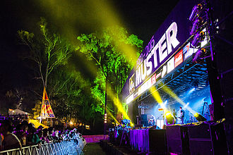Gympie Music Muster - Main stage at the 2015 Gympie Music Muster