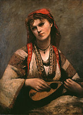 Gypsy Girl with Mandolin, by Jean-Baptiste-Camille Corot.jpg