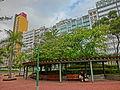 HK 觀塘 Kwun Tong 海濱道公園 Hoi Bun Road Park LCSD Dec-2013 view Wai Yip Street building facades.JPG