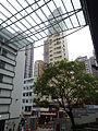 HK Central PMQ mall courtyard banyan tree Kingearn Building facade Jan-2015 DSC.JPG