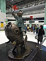 HK Lok Ma Chau MTR Station 落馬洲站 Bauhinia Rider sculpture Chinese Scuptor 蔣朔 Jiang Shuo Bronze statue March 2016 Concourse Level 3 DSC (5).JPG