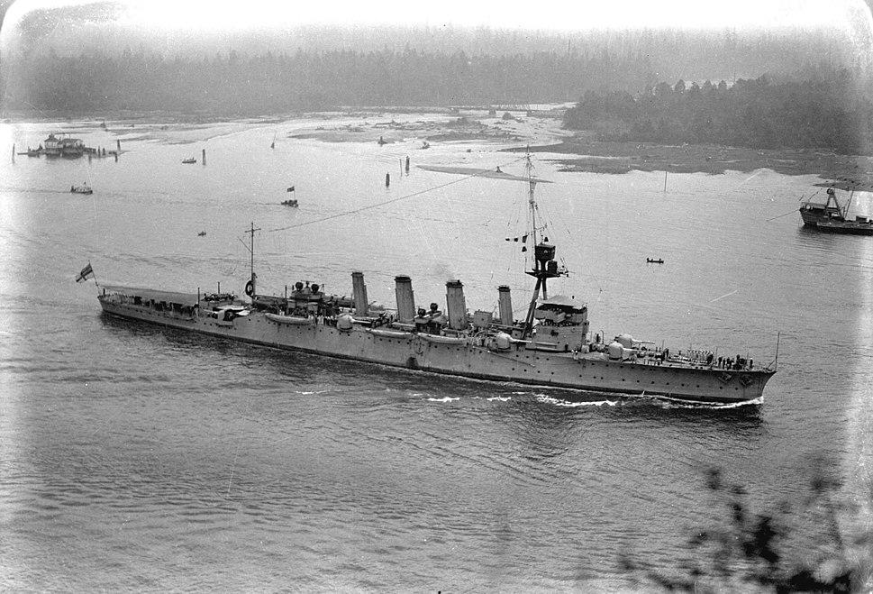 HMAS Adelaide entering Burrard Inlet 1924