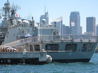 Typhoon Weapon Station - Image: HMAS Parramatta stern Jan 2010