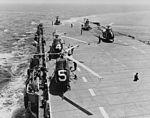 HO4S helicopters of HS-4 on USS Badoeng Strait (CVE-116) in July 1954.jpg