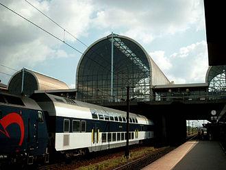 Høje-Taastrup Municipality - Høje-Taastrup train station in Høje Taastrup, Denmark.