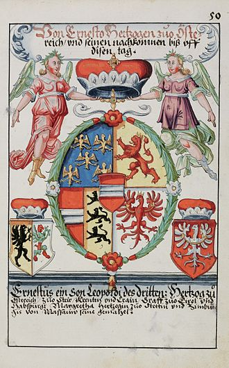 Ernest, Duke of Austria - Coat of arms of Duke Ernest of Austria (1627)