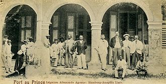 United States occupation of Haiti - Personnel from the German Legation and the Hamburg-Amerika Line