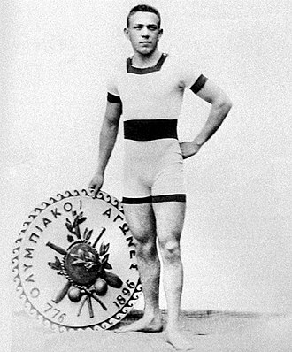 Hungary national football team - Alfréd Hajós, who won two gold medals in swimming in the first Olympic Games in 1896, was one of the first managers of the national team.