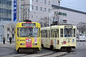 Hakodate Transportation 8002 and 720.JPG