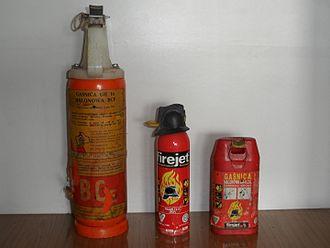 Halomethane - Halon-based hand-held fire extinguishers
