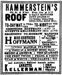 willie hammerstein revolvy Cotton Club 1920s African American advertisement from the new york times 18 july 1909
