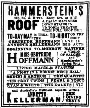 Willie Hammerstein - Advertisement from The New York Times, 18 July 1909