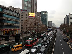 Downtown Hangzhou in Xiacheng