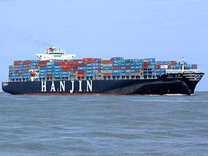 Hanjin Tianjin p4 approaching Port of Rotterdam, Holland 08-Jul-2007.jpg