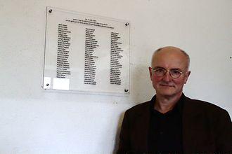 Hans-Joachim Lang - Image: Hans Joachim Lang au Struthof avril 2013 02
