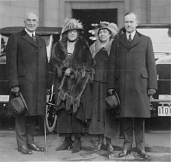President Harding and Vice President Coolidge and their wives.