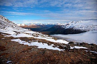 Das Harding Icefield in den Kenai Mountains