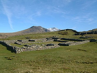 Hardknott Roman Fort - Remains of a storage facility (Horreum) within Hardknott Roman Fort