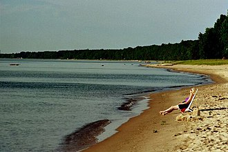 Lake Huron - Image: Harrisville Beach near State Park Lake Huron