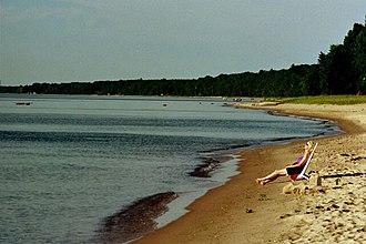 Lake Huron - Image: Harrisville Beach near State Park Lake Huron