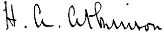 Harry Atkinson - Image: Harry Atkinson Signature
