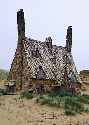 The Shell cottage constructed on Freshwater Be...