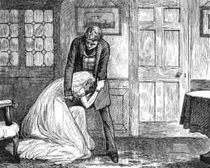 Miss Havisham - Miss Havisham is begging Pip for his forgiveness (F. A. Fraser)