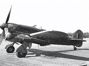 RAF raid on La Caine HQ - Image: Hawker Typhoon Ex CC