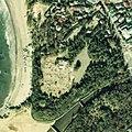 Hayama Imperial Villa aerial photograph, in 1977-12-26.jpg