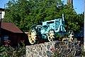 Hayvoron Chapayeva Str. Agrarian Liceum Memorial Technical Sign Tractor Universal 01 (YDS 04272).jpg