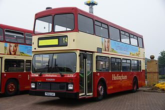 Double-decker bus - A Hedingham Volvo Olympian in England