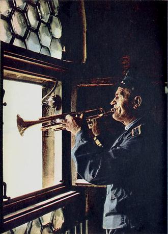 Kraków Old Town - Bugler playing the Heynal