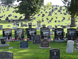 Evergreen Cemetery (Oakland, California) - Hells Angels gravesite