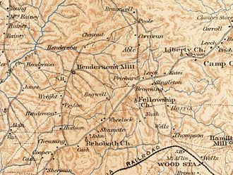 Tucker, Georgia - Map of Tucker area during the U.S. Civil War