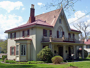 Rhinebeck (village), New York - The Henry Delamater House, in the Rhinebeck Village Historic District