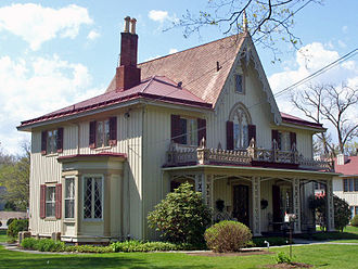 National Register of Historic Places listings in Rhinebeck, New York - Image: Henry Delamater House, Rhinebeck, NY