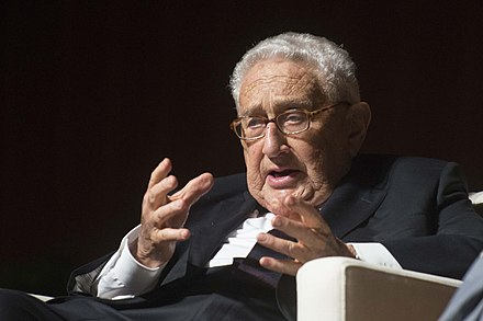 Kissinger at the LBJ Library in 2016 Henry Kissinger at the LBJ Library (2016).jpg