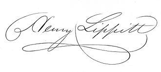 Henry Lippitt - Image: Henry Lippitt governor of Rhode Island signature
