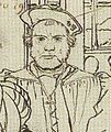 Henry Patenson, Detail of Study for portrait of the More family, by Hans Holbein the Younger.jpg