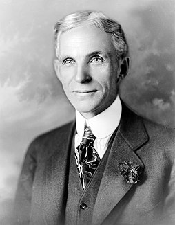 Henry Ford founded Ford Motor Company in 1903 Henry ford 1919.jpg