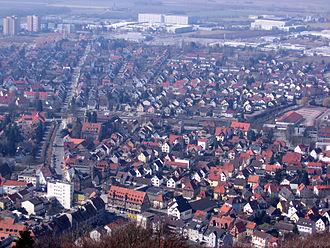 Heppenheim - Heppenheim seen from the Starkenburg castle