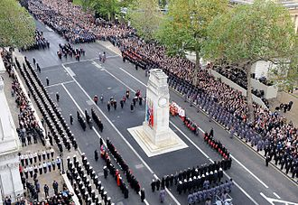 National Service of Remembrance - The ceremony at the Cenotaph in November 2010