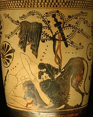 Hercules and the lion of Nemea